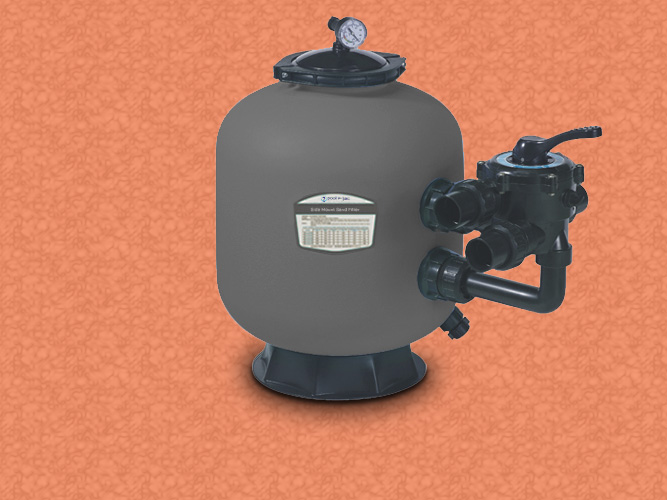 Side mount sand filter with 1.200 Kg