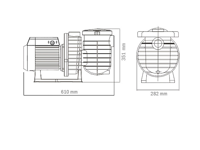 pompa kolam renang 2 hp dengan nsk bearing